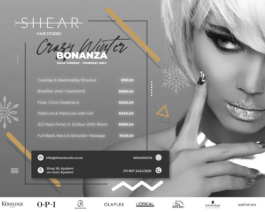 Shear Hair Studio – Crazy Winter Bonanza